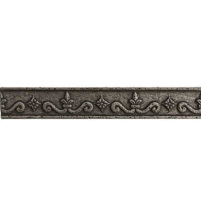 8 x 1.25 Renaissance Border Accent Tile in Pewter