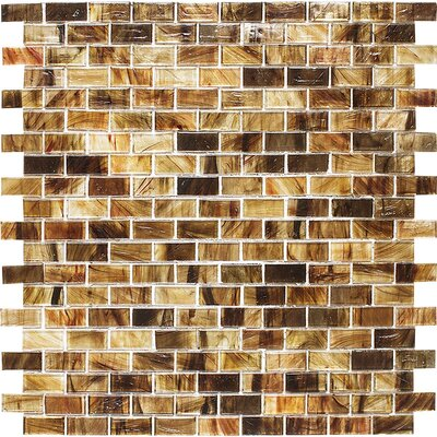 Riverside Brick 0.625 x 1.25 Glass Mosaic Tile in Clear