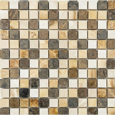 Bosphorus Marble 1 x 1 Stone Mosaic Tile in Onyx Beige Polished