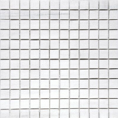 Naples Marble 1 x 1 Stone Mosaic Tile in White Honed