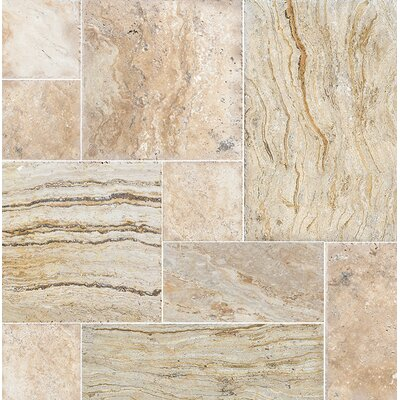 Laguna Random Sized Travertine Field Tile in Beige