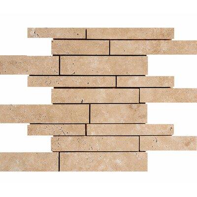 Atrium Random Sized Stone Mosaic Tile in Walnut