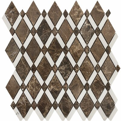 Oceanside Diamond Stone Mosaic Tile in Dark