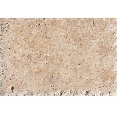 16 x 24 Travertine Field Tile in Light Walnut Chiseled Brushed