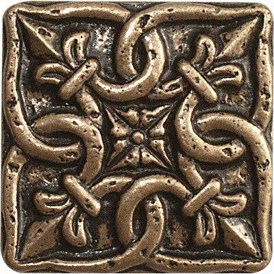 1 x 1 Renaissance Deco Accent Tile in Bronze