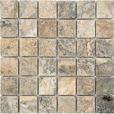 2 x 2 Stone Mosaic Tile in Antico Tumbled
