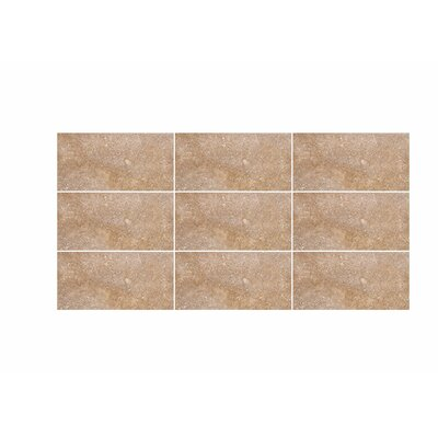 Tumbled 3 x 6 Travertine Field Tile in Noce