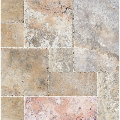 Scabos French Pattern Random Sized Stone Tile Chiseled Brushed