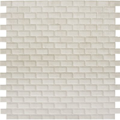Tahoe Brick 0.625 x 1.25 Glass Mosaic Tile in Matte