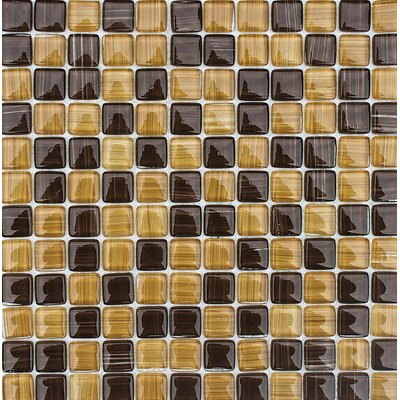 Pismo 1 x 1 Glass Mosaic Tile