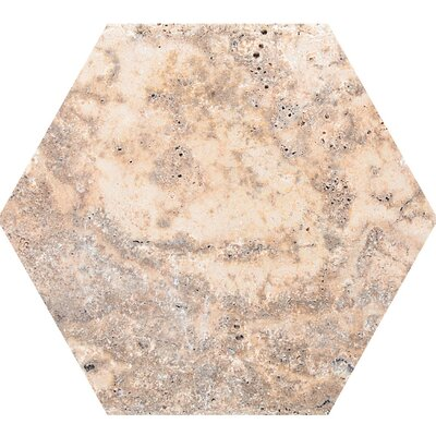 Scabos Unfilled 8 x 8 Travertine Field Tile in Beige