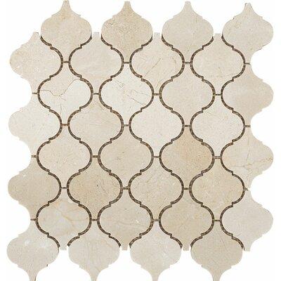 Santa Maria Crema Marfil Stone Mosaic Tile Polished