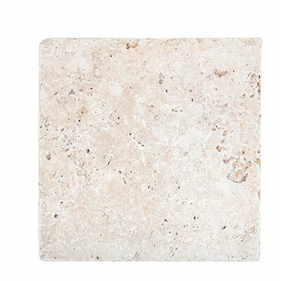 Tumbled 18 x 18 Travertine Field Tile in Ivory