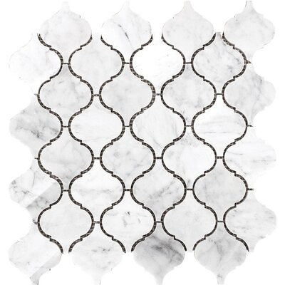 Santa Maria Carrara Mosaic Tile in White Polished