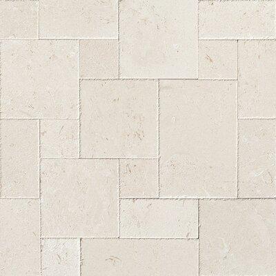 Random Sized Limestone Leather Look Tile in Beige
