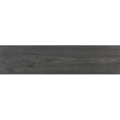 Vanderbilt 6 x 24 Porcelain Wood LookTile in Charcoal
