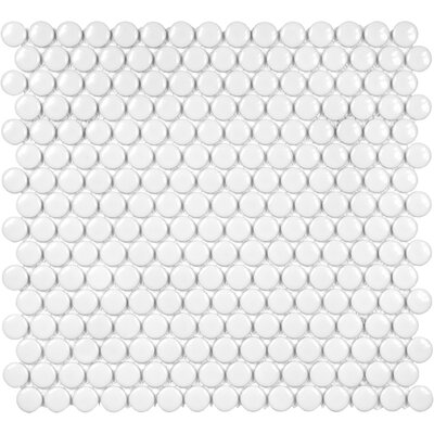 Sail 0.75 x 0.75 Ceramic/Porcelain Mosaic Tile in White