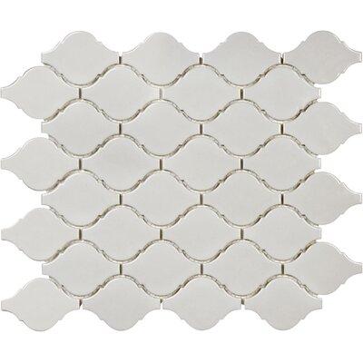 Sail Ceramic/Porcelain Mosaic Tile in Glossy Porpoise
