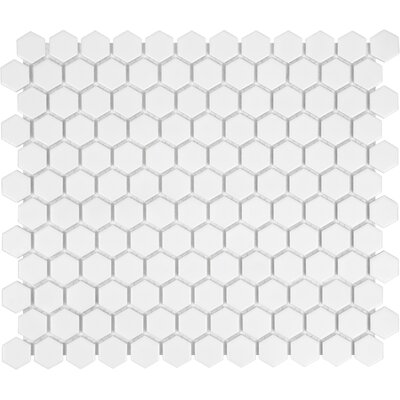 Sail 1 x 1 Porcelain Mosaic Tile in White