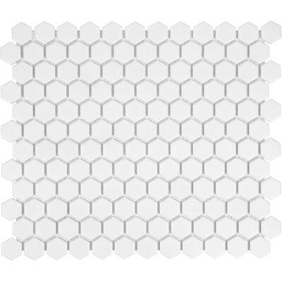 Sail 1 x 1 Ceramic/Porcelain Mosaic Tile in White