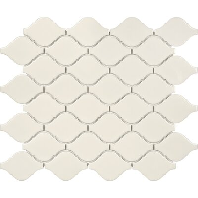 Sail Ceramic/Porcelain Mosaic Tile in Glossy Biscotti