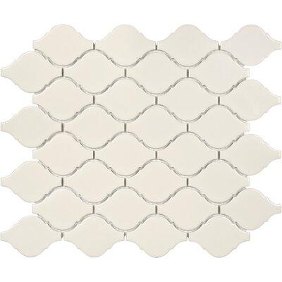 Sail Ceramic/Porcelain Mosaic Tile in Glossy Biscotti