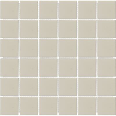 Sail 2 x 2 Ceramic/Porcelain Mosaic Tile in Beige
