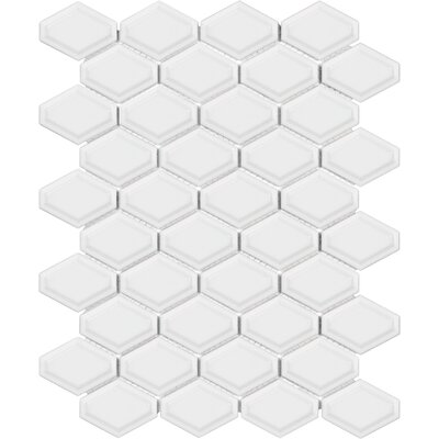 Sail Ceramic/Porcelain Mosaic Tile in Glossy White