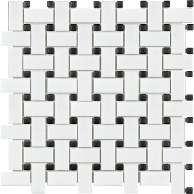 Sail Porcelain Mosaic Tile in Matte White