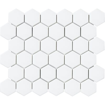 Sail 2 x 2 Ceramic/Porcelain Mosaic Tile in Matte White