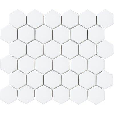 Sail 2 x 2 Ceramic/Porcelain Mosaic Tile in Matte White