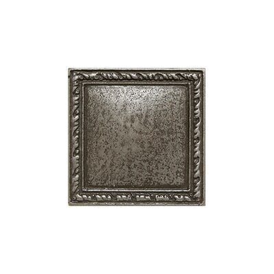 2 x 2 Olive Branch Deco Accent Tile in Silver