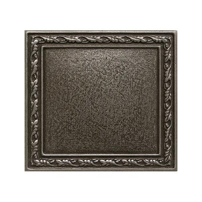 4 x 4 Olive Branch Deco Accent Tile in Silver
