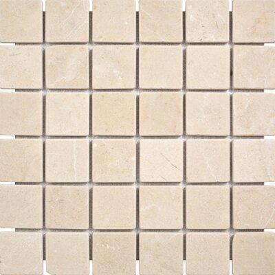 Crema Marfil Tumbled 2 x 2 Stone Mosaic Tile