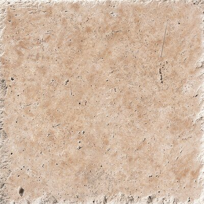 18 x 18 Stone Tile in Light Walnut Chiseled Brushed