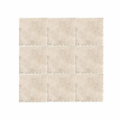 Chiseled 4 x 4 Travertine Field Tile in Beige
