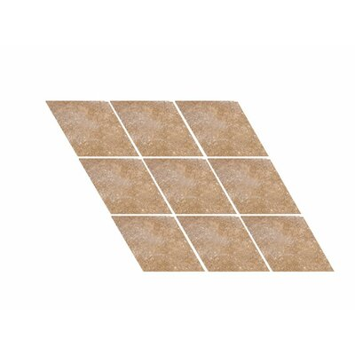 Tumbled Harlequin 4.5 x 4.5 Travertine Field Tile in Noce