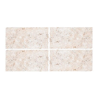 Tumbled 3 x 6 Travertine Subway Tile in Ivory