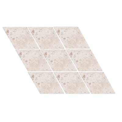 Tumbled Harlequin 4.5 x 4.5 Travertine Field Tile in Ivory