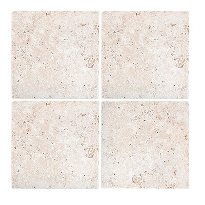 Tumbled 6 x 6 Travertine Field Tile in Ivory