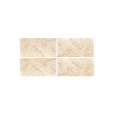Filled 3 x 6 Travertine Field Tile in Ivory Honed