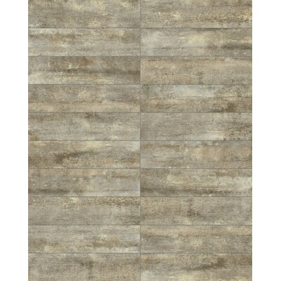 Farmstead 6 x 24 Porcelain Wood Look Tile in Metal