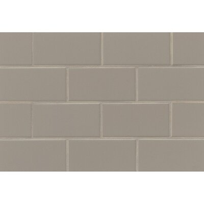 Nantucket 3 x 6 Ceramic Subway Tile in Gloss Driftwood