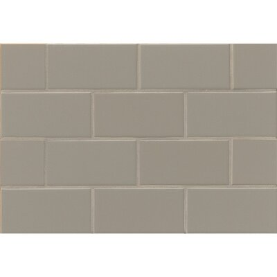 Nantucket 3 x 6 Ceramic Subway Tile in Matte Driftwood