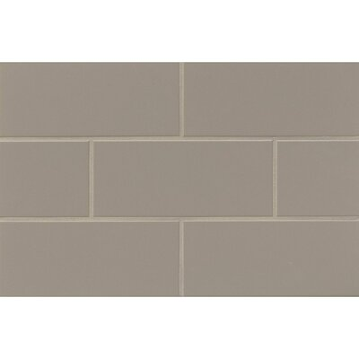 Nantucket 4.25 x 10 Ceramic Subway Tile in Matte Driftwood