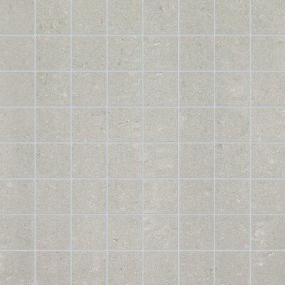 1.5 x 1.5 Porcelain Mosaic Tile in Matte Ash