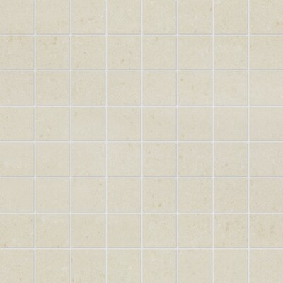 1.5 x 1.5 Porcelain Mosaic Tile in Matte Vanilla