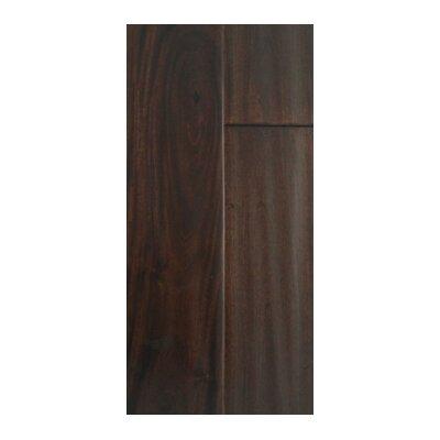 4.75 Solid Dark Ebony Hardwood Flooring in Brown and Black