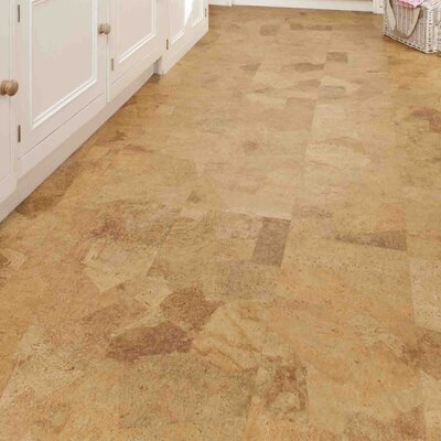 12 Tiles Cork Flooring in Sand Slate
