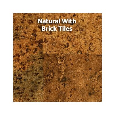 "11-7/8"" Cork Hardwood Flooring In Natural"